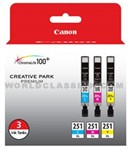 Canon-6449B009-CLI-251XL-Color-Combo-Pack