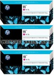 HP-HP-91-Magenta-Triple-Pack-C9484A
