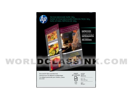 hp tri fold brochure template - hp c7020a hp 8 5 x 11 paper and film letter size c7020